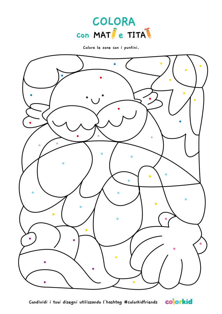 colora con i puntini estate