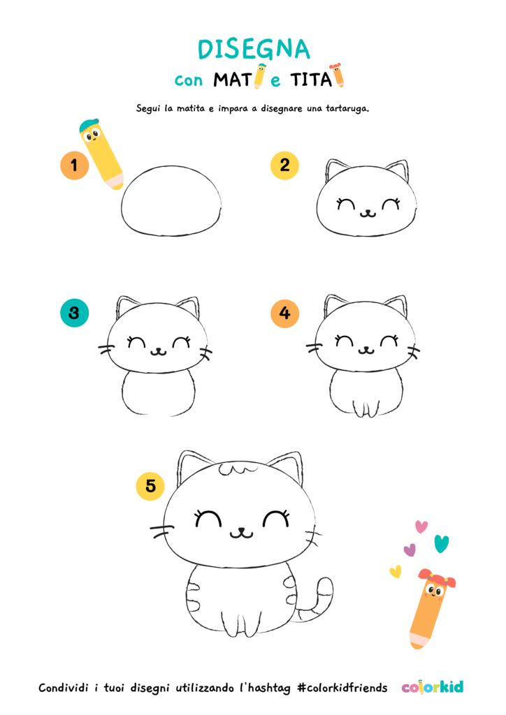 impara a disegnare un gattino